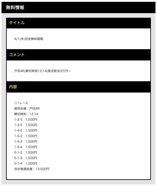 ボートタウンの無料予想21/04/01