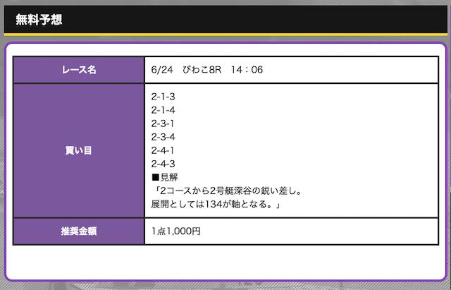 競艇オニアツの無料予想20/06/24