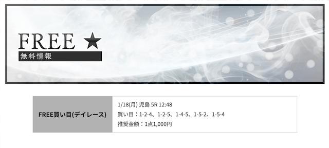 競艇リッツの無料予想21/01/18