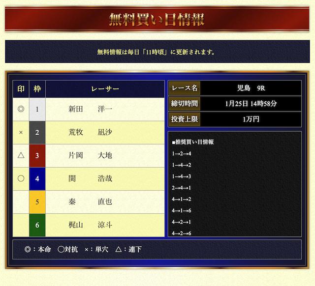 VMAXの無料予想21/01/25