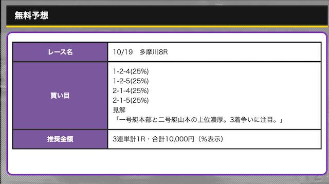 競艇オニアツ無料予想21/10/19