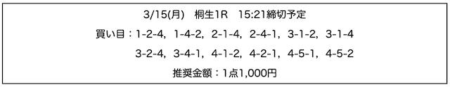 行列のできる競艇相談所の無料予想21/03/15
