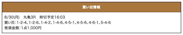激船の無料予想21/08/30