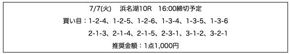 行列のできる競艇相談所の無料予想20/07/07