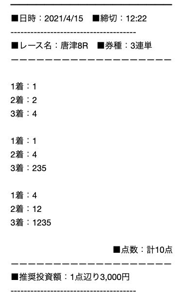 強艇の無料予想21/04/15