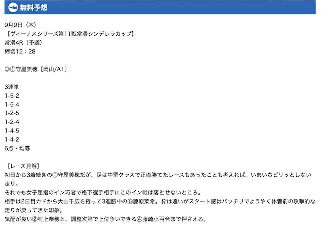 三競無料予想21/09/09