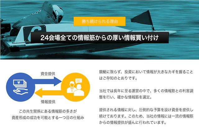 ドリームボートの情報筋について