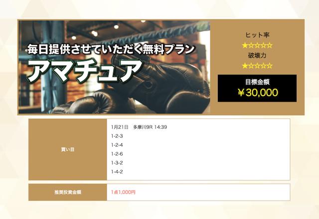 競艇チャンピオンの無料予想21/01/21