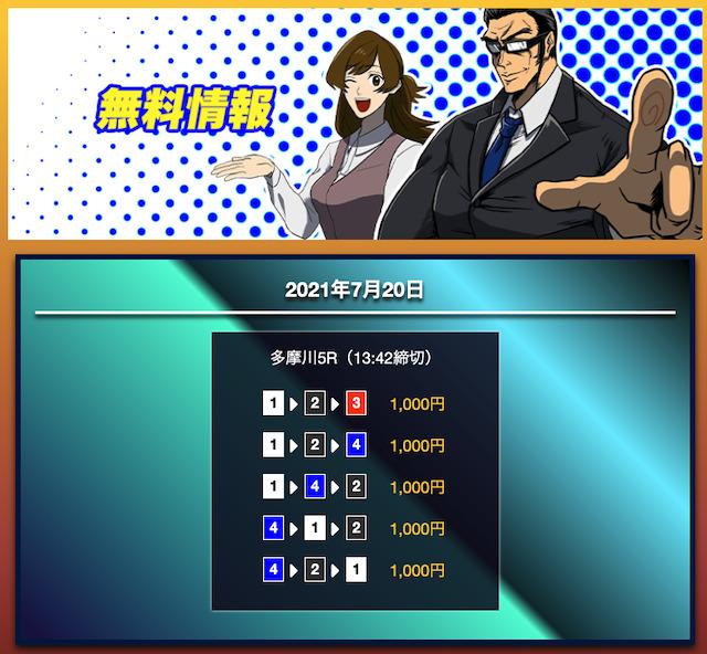 競艇サラリーマンの無料予想21/07/20