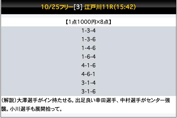 競艇ファンタジスタの無料予想21/10/25