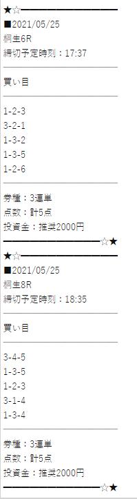 万舟ジャパンの有料予想